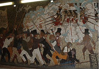 Former Chartist Mural in Newport commemorating the uprising Newportx1.JPG