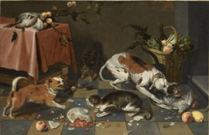Nicasius Bernaerts - Fight between cats and dogs