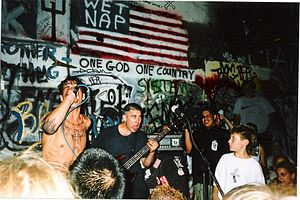 Link 80 - Nick Traina and Adam Pereria at 924 Gilman Street, 1997.