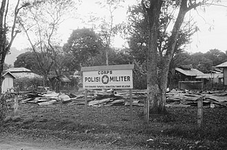 Army Military Police Corps (Indonesia) - A disbanded post of the East Sumatera Military Police corps base, taken in December 1948