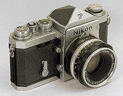 Nikon F with eye-level finder (4217341511).jpg