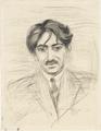 Nils Dardel - Porträtt av bulgariske målaren Papazoff.png