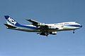"Nippon Cargo Airlines - NCA Boeing 747-281F-SCD JA8188 ""Indy Japan 300"" sticker (24085460845).jpg"