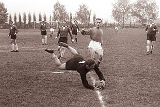 NK Maribor - Maribor playing against Rudar Trbovlje in 1961.