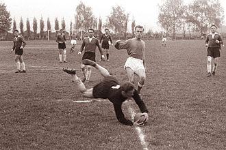 NK Maribor - Maribor playing against Rudar Trbovlje in 1961.
