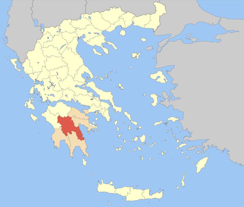 Arcadia within Greece