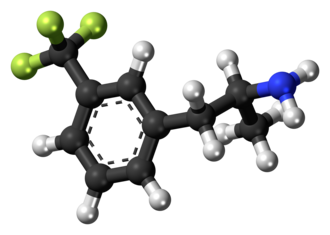 Norfenfluramine - Image: Norfenfluramine molecule ball