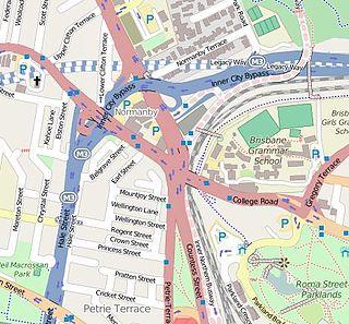 Normanby Fiveways Intersection of five major roads in Queensland, Australia