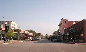 Conroe, Texas - Image: North Main St., Conroe, Texas, X Simonton St