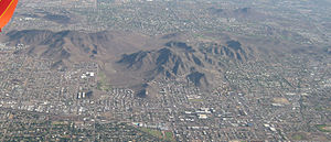 North/Northwest Phoenix - view of North Phoenix and Phoenix Mountains.