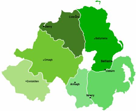 Irlanda Del Nord Cartina.Irlanda Del Nord Wikivoyage Guida Turistica Di Viaggio