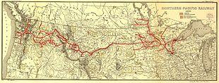 Tracciato della Northern Pacific Railroad