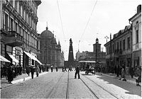 Liberty Square in Łódź during World War II