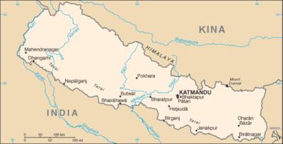 kart over hele asia Nepals geografi – Wikipedia kart over hele asia