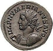 Moneta recante l'effige di Numeriano.