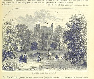 Worshipful Company of Drapers - Drapers' Hall Garden, 1860