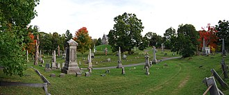 Oakwood Cemetery (Troy, New York) - Section G-4 of Oakwood Cemetery, overlooking Sections G-3 and H-1