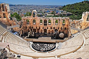 Yanni - The Herodes Atticus Theater at the Acropolis of Athens, site of Yanni's September 1993 breakthrough concert Yanni Live at the Acropolis, performed in his native country Greece.