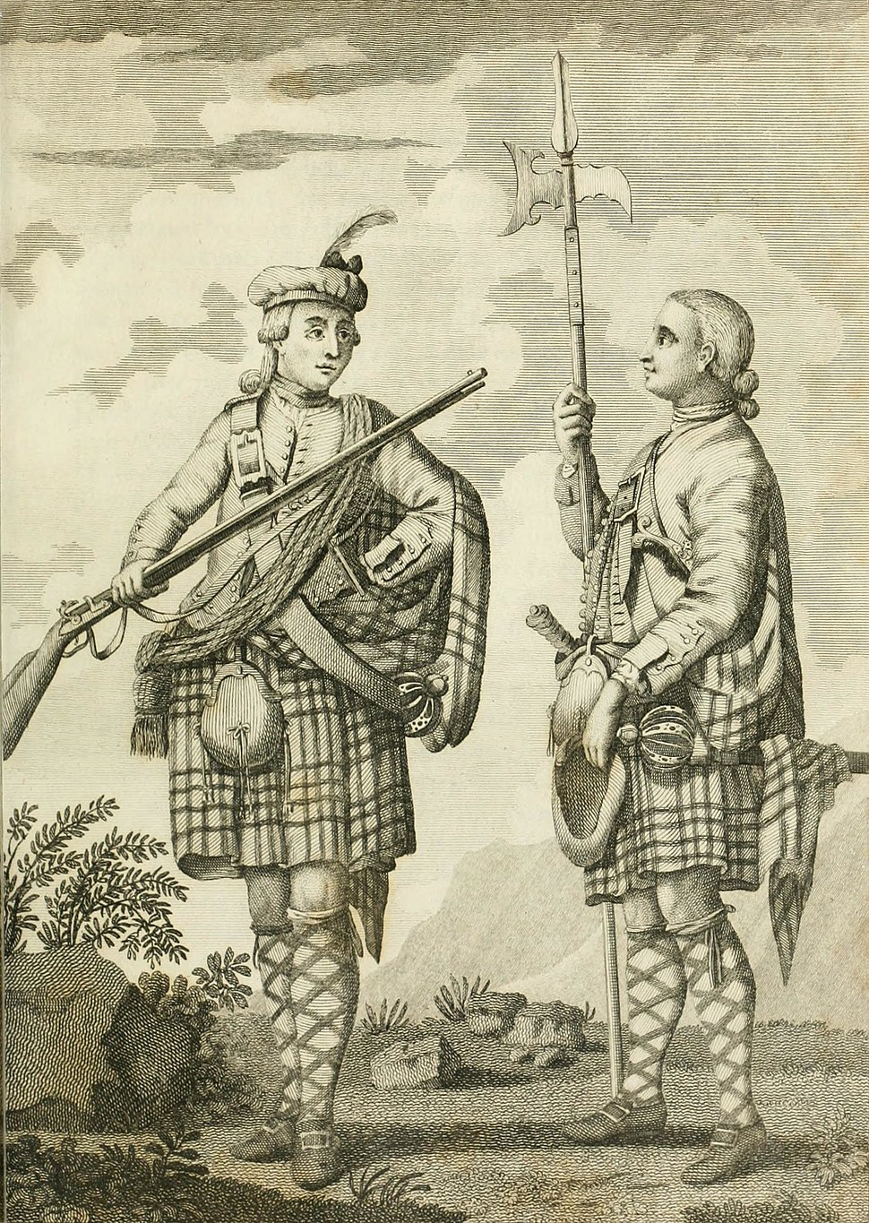 Officer and Serjeant of a Highland Regiment