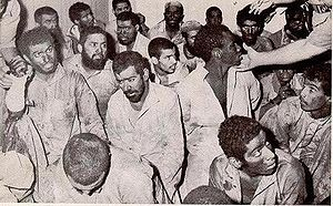 History of Saudi Arabia - The surviving insurgents of the seizure of the Grand Mosque,1979 under custody of Saudi authorities. c. 1980.