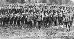 Officers and members of the 26th Battalion of the Second Canadian Expeditionary Force
