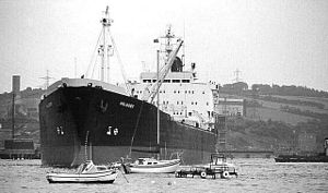 "English: Oil tanker, Larne Lough The tanker ""F..."