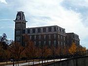 Old Main from the northwest, University of Arkansas, Fayetteville, Arkansas (autumn)