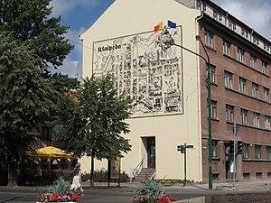 Klaipėda - Map of Old Town of Klaipėda