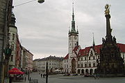 The main square of Olomouc, Czechia