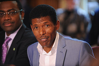 Haile Gebrselassie - Haile at the Olympic hunger summit in London, August 2012