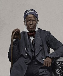 Omar Ibn Said (nicknamed Uncle Moreau) A Slave of Great Notoriety of North Carolina, restored and colourised ambrotype circa 1850.jpg