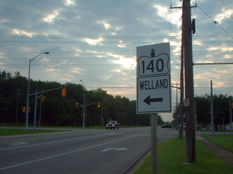 Ontario Highway 3 - Highway 3 at Highway140 in Port Colborne