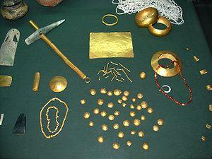 Varna Necropolis - Golden objects found in the necropolis.