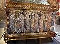 Orafo aostano, cassa-reliquiario della mandibola di san grato, 1450 circa (aosta, collegiata dei ss. pietro e orso) 05,1.JPG