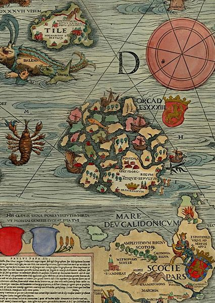 The Ever Fascinating Orkney Islands 426px-Orcades_Carta_Marina