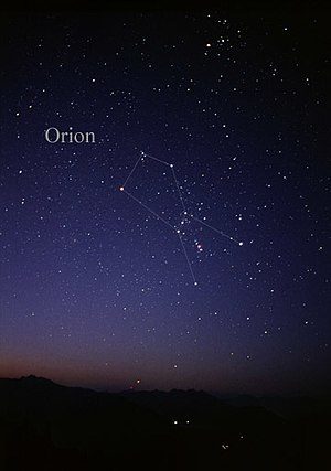 Orion (constellation) - Constellation Orion as it can be seen by the naked eye