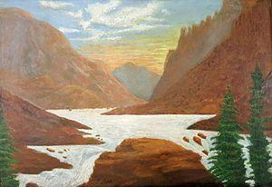 Orson Pratt Huish - A landscape painting by Utah artist Orson Pratt Huish