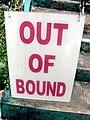 Out of Bound sign, Haw Par Villa (Tiger Balm Theme Park), Singapore (41376994).jpg
