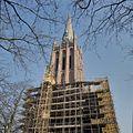 Overzicht kerktoren waarvan het onderstuk in de steigers staat voor de restauratie - IJsselstein - 20381731 - RCE.jpg