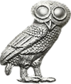 Owl of Athena, patron of Athens of