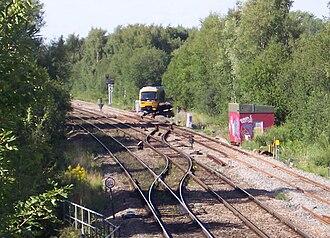 Oxford–Bicester line - Image: Oxford North Jnc