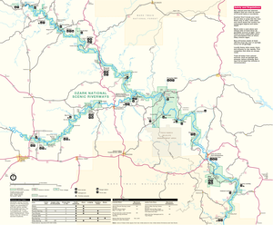 Ozark National Scenic Riverways - NPS map of the Riverways