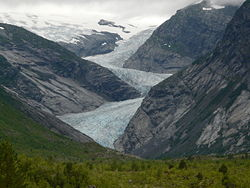 A Jostedalsbreen gleccser