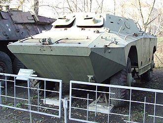 D-442 FÚG - Polish D-442 FÚG in a museum. The armoured shutters with integral vision blocks on the windshields and a single firing port on the left hand side of the hull are visible