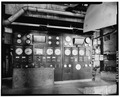 POWER PLANT BOILER CONTROL PANEL IN BUILDING 75 - Scovill Brass Works, 59 Mill Street, Waterbury, New Haven County, CT HAER CONN,5-WATB,19-84.tif