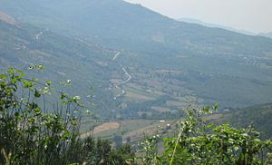 "Pruno (Cilento) - Panorama from the height of ""Croce di Pruno"""