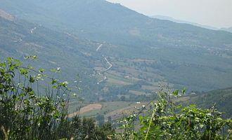 "Pruno (Cilento) - Panorama from the height of ""Croce di Pruno"""