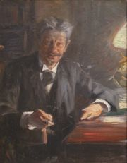 Georg Brandes, a scetch for a painting, by P.S. Krøyer, 1900