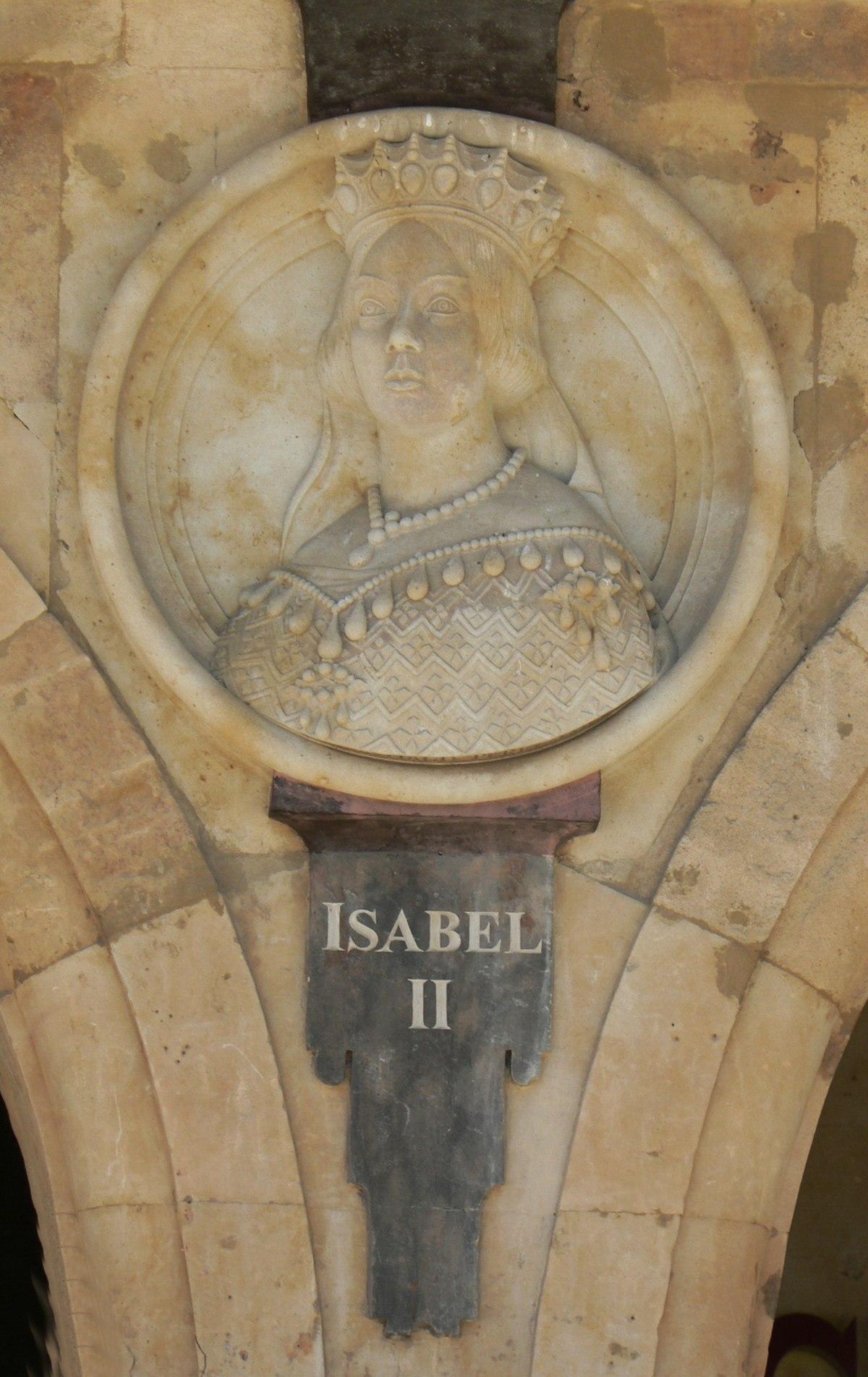 Pabellón Consistorial medallón 21 Isabel II.JPG