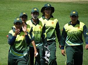 Pakistan women's national cricket team - Pakistan Team at ICC Women's Cricket World Cup in Sydney, March 2009.